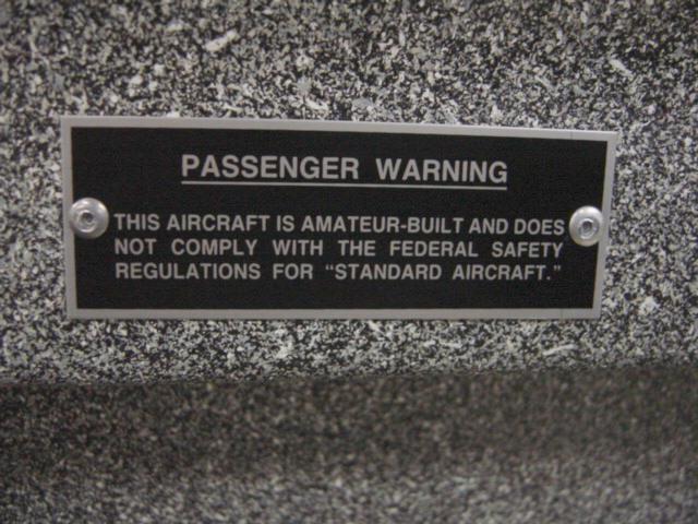 Penger Warning Placard