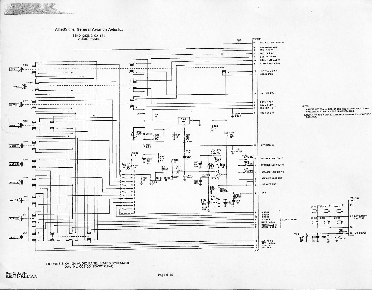ka134_r4 first flight prep king ka 134 audio panel wiring diagram at bayanpartner.co